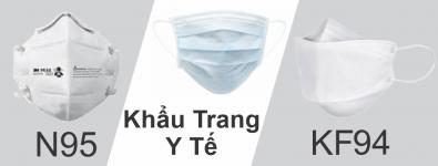 So sánh khẩu trang N95, KF94 và khẩu trang y tế
